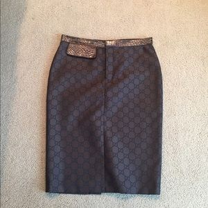 Authentic Gucci Logo Skirt